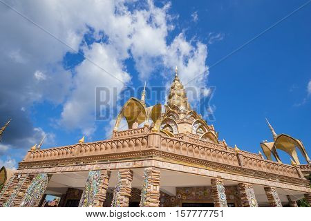 Gold Pagoda In Wat Phra That Pha Son Kaew Temple, Thailand