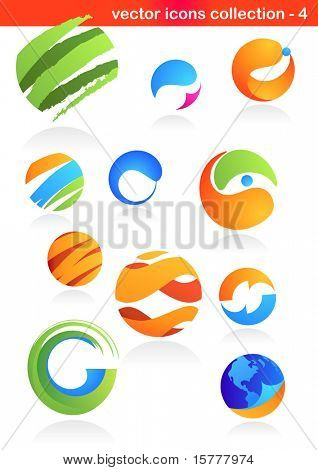 collection of abstract icons - 4