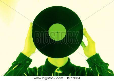 Vinylic Disk, Green