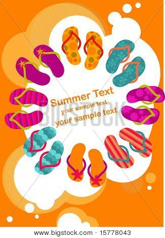 flip-flop en el cartel de verano