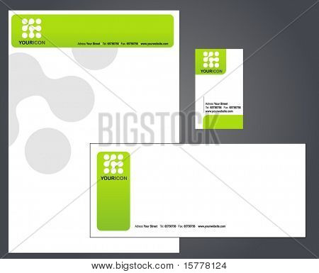template of letterhead set