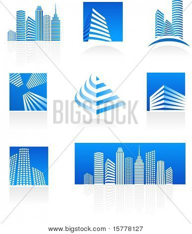 Set of real estate icons