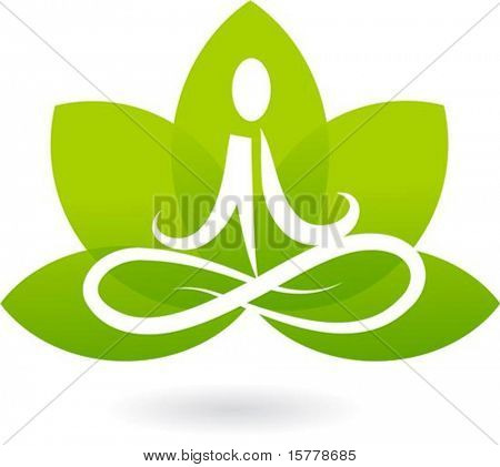 Yoga lotus pictogram