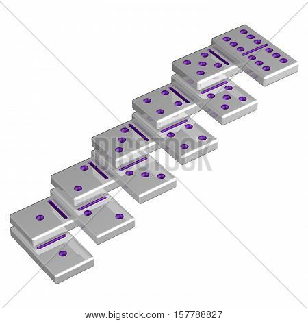 Concept : Career ladder isolated on white background. 3D rendering.
