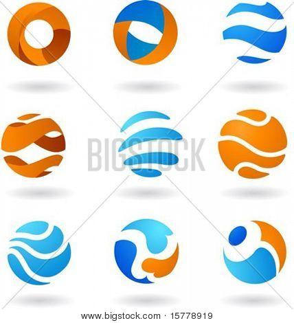 Coleção de ícones do mundo abstrato