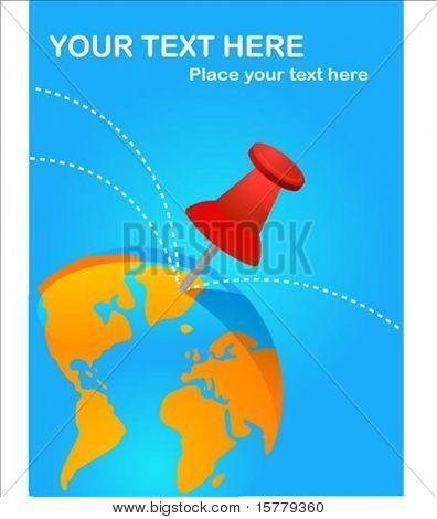 Cartaz de destinos de viagens com Percevejo vermelho