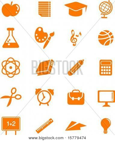 Collection of many educations and science icons