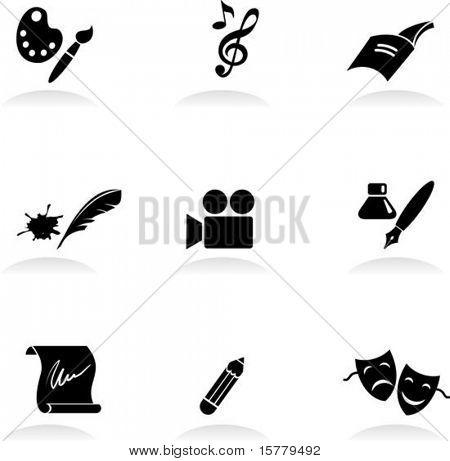 Conjunto de iconos de arte clásico