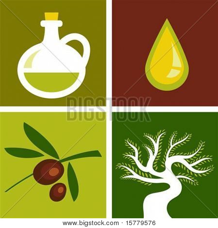 Four olive backgrounds