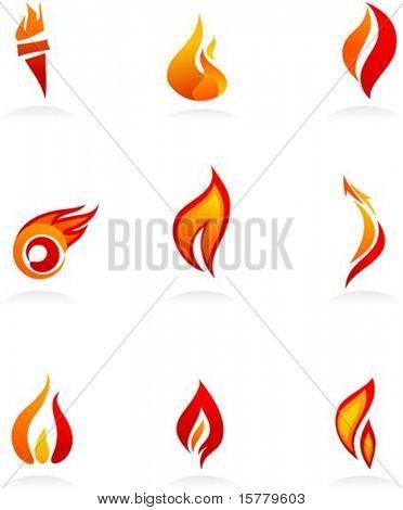 Verzameling van brand icons