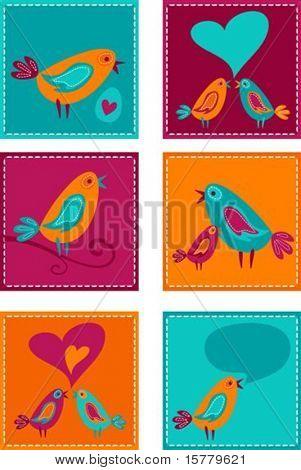 Lindo pájaro colorido doodles