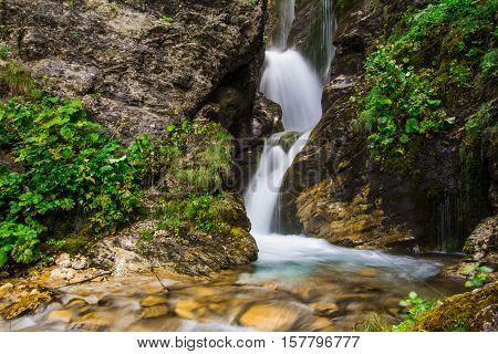 Little waterfall of Rio Arno in Abruzzo, Italy