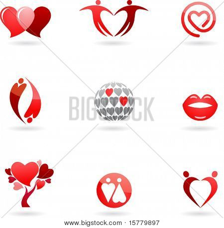 Love and Valentines  icons collection