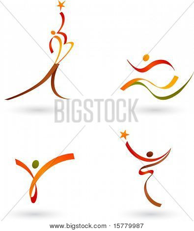 Abstract people outlines