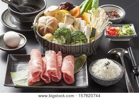 Shabu Shabu, Traditional Japanese Hot Pot  cuisine