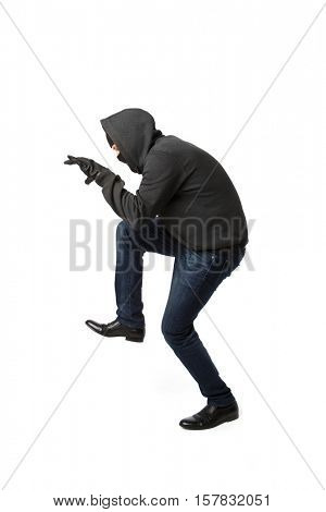 Thief isolated on blank background