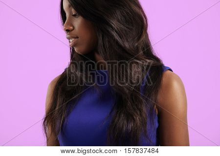 Black Woman With Straight Hair, Wears Extensions