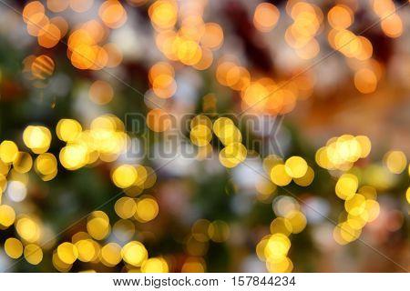 Colorful color lights bokeh blur background, Chrismas sity lights bokeh. Texture