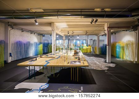 Milan, Italy - June 9, 2016: Exhibition Room At The Science And Technology Museum Leonardo Da Vinci