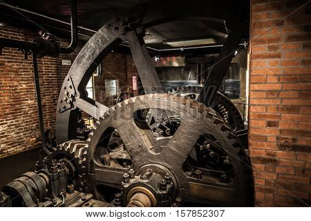 Milan, Italy - June 9, 2016: Old Factory Exhibition At The Science And Technology Museum Leonardo Da