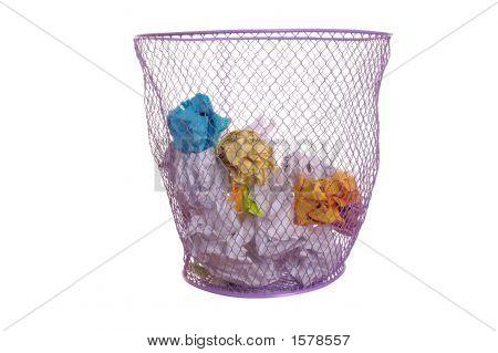 Isolated Waste Basket