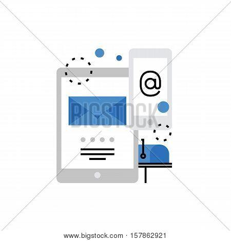 Email Marketing Monoflat Icon.