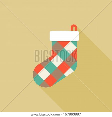 Socks icon, colorful sock collection for Christmas holiday, flat design