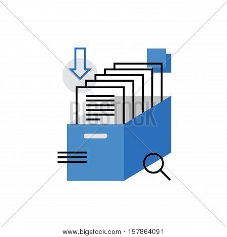 Archive Monoflat Icon