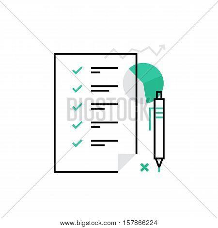 Planning Monoflat Icon.