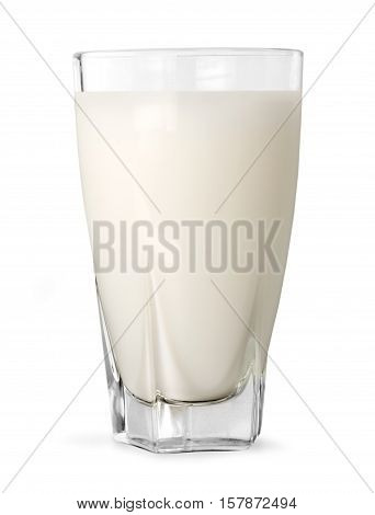 glass of milk isolated on white with clipping path included