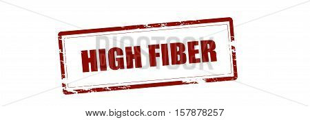 Rubber stamp with text high fiber inside vector illustration
