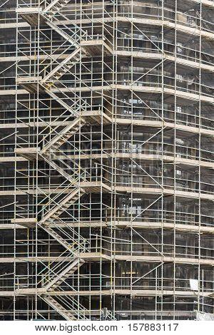 Building restoration work in the centre of Glasgow Scotland.