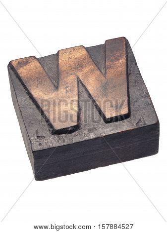 Wooden Letterpress W Block