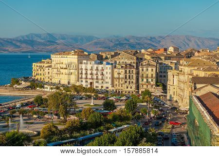 Aerial View On Corfu City