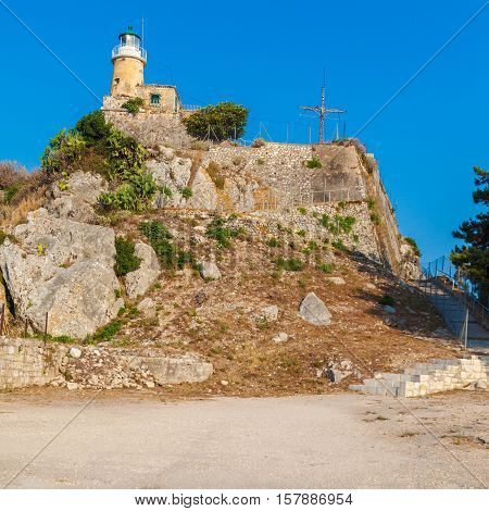 Lighthouse At Old Fortress, Corfu