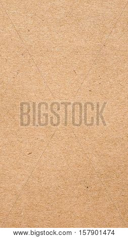Brown Corrugated Cardboard Background - Vertical