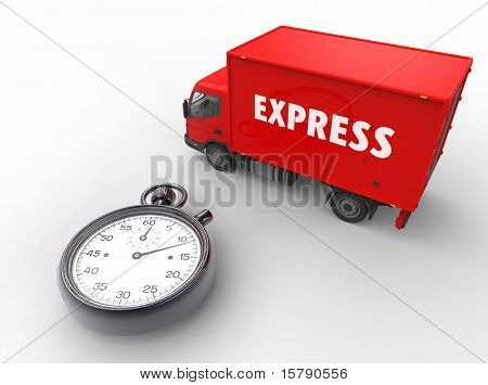 Express Delivery Red