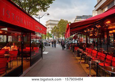 Street Cafe In Paris, France