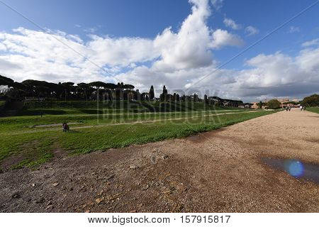 the Circus Maximus in the old Town of Rome