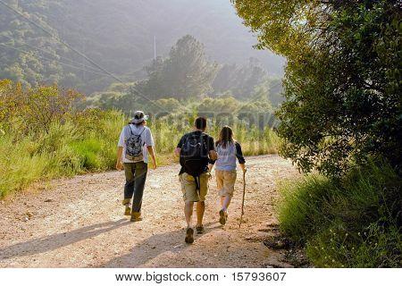 Hiking Scene.