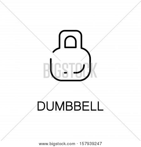 Dumbbell flat icon. Single high quality outline symbol of sport equipment for web design or mobile app. Thin line signs of dumbbell for design logo, visit card, etc. Outline pictogram of dumbbell