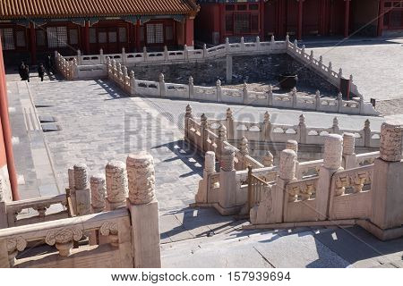 BEIJING - FEBRUARY 23:  Palace of Hall of Preserved Harmony Baohedian in the Forbidden City, Beijing, China, February 23, 2016.