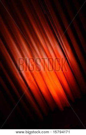 Diagonal abstract red curtain background