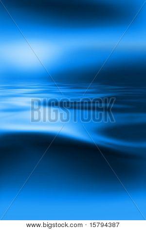 Hermoso agua azul y fondo de cielo