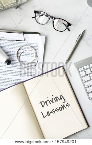 Driving Lessons Driver's License Transportation Concept