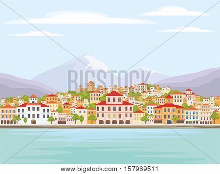 Mediterranean Coastal Town.eps