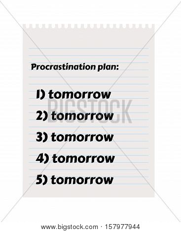 Paper With To Do List And Procrastination