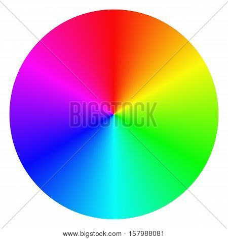 Isolated gradient rainbow circle design on white background