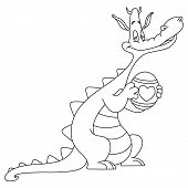 pic of dinosaur-eggs  - coloring page of a dragon holding an easter egg - JPG