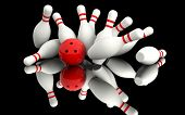 foto of bowling ball  - Bowling  - JPG